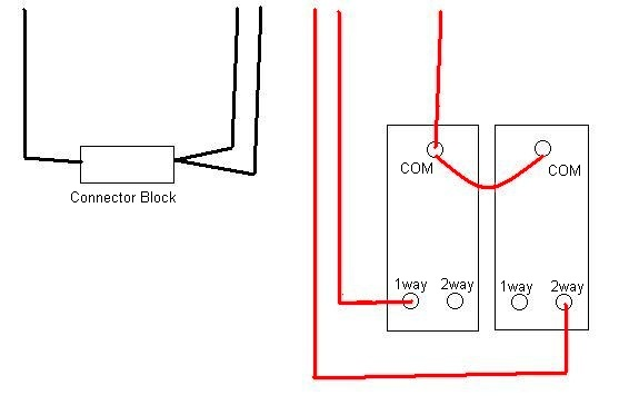 2 gang switch wiring diagram to 2 lights 2 gang receptacle wiring diagram 2-gang light switch replacement | diynot forums